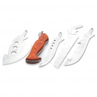 4-in-1 Detachable Stainless Steel Cutter Knifes Set