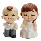 Romantic Resin Proposing Couples Toy Desktop Doll