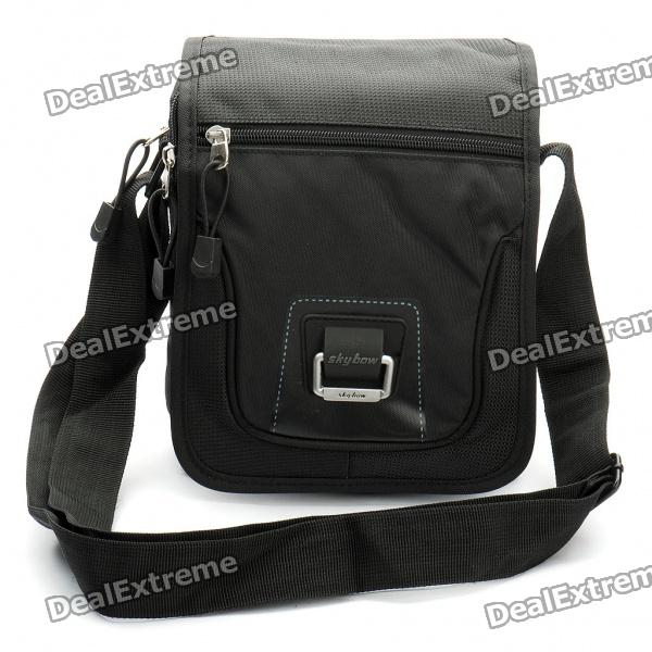 Stylish Terylene One-Shoulder Bag - Black stylish camouflage terylene waist bag