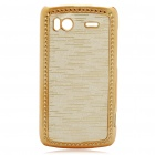 Electroplating Protective PC Back Case for HTC G14 Sensation 4G - Golden