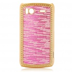 Electroplating Protective PC Back Case for HTC G14 Sensation 4G - Deep Pink