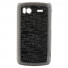 Electroplating Protective PC Back Case for HTC G14 Sensation 4G - Black