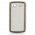 Electroplating Protective PC Back Case for HTC G14 Sensation 4G - Silver