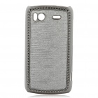 Electroplating Protective PC Back Case for HTC G14 Sensation 4G - Grey