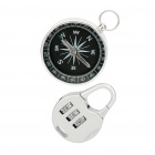 Acero inoxidable Compass + 3-Digit Set Candado