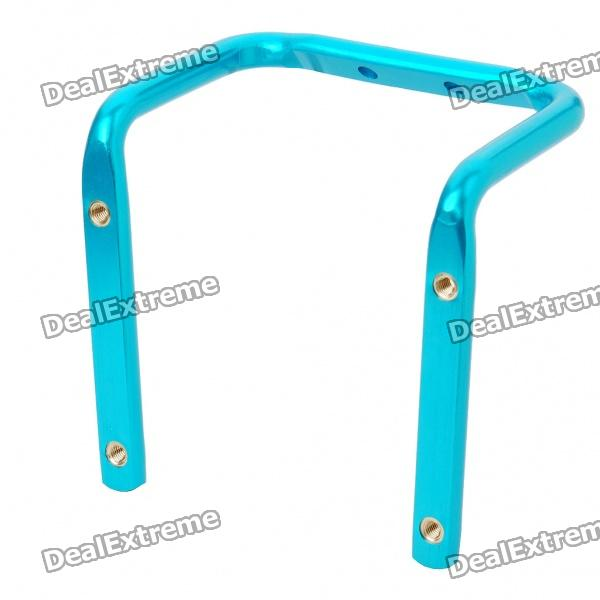 Metal Bike Bicycle Saddle Rail Dual Water Bottle Holder Bracket - Blue