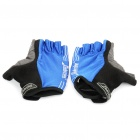 Outdoor Sports Bicycle Anti-Slip Half-Finger Gloves - Black + Blue + Grey (Size L)