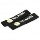Football/Soccer Team Emblem Car Seat Belt Covers Shoulder Pads - Real Madrid (Pair)