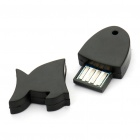 Ultra-Mini Cute Fish Shaped Bluetooth V2.0 USB Dongle - Black