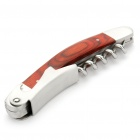 Stainless Steel Wine/Beer Bottle Opener with Wood Handle