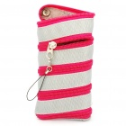 Multi-Use Zipper Pouch with Buckle for Cellphone (Random Color)
