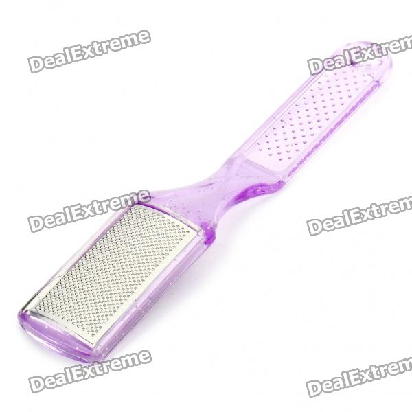 Handheld Dual-Sided Stainless Steel Plastic Foot File Exfoliator - Random Color