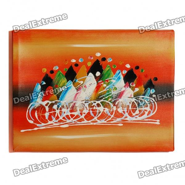 DIY Handmade Hand Painted Oil Painting with Wooden Frame - Abstract Stream