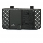 Double-Deck Auto Car Sunshade Board with CD Storage Bag - Black + White (Holds-12CD)