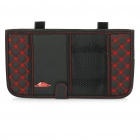 Double-Deck Auto Car Sunshade Board with CD Storage Bag - Black + Red (Holds-12CD)