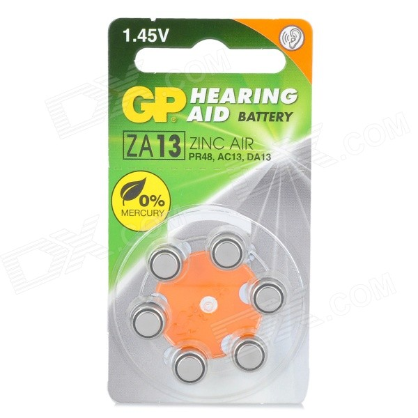 GP PR48/ZA13 Zinc Air 1.4V batterier för hörapparater (6-Pack)
