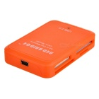 USB 2.0 All-in-One Orange Color Card Reader(Square Shape)