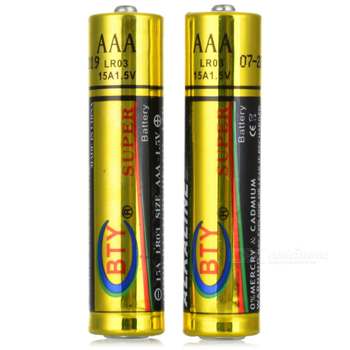 BTY Super AAA 1.5V Primary Alkaline Battery (20-Pack) 2015 new arrival alkaline water ionizer for home use