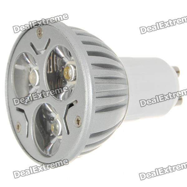 GU10 3W 3-LED 260-Lumen 3500K Warm White Light Bulb (85~245V AC)