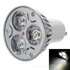 GU10 3W 3-LED 260-Lumen 6500K White Light Bulb (85~245V AC)