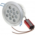 12W 12-LED 1000-Lumen 3500K Warm White Ceiling Lamp/Down Light with LED Driver (AC 85~245V)