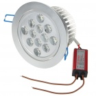 12W 12-LED 1000-Lumen 6500K White Ceiling Lamp/Down Light with LED Driver (AC 85~245V)