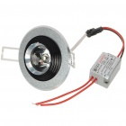 1W 1-LED 90-Lumen 6500K White Ceiling Lamp/Down Light with LED Driver (AC 85~245V)