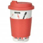 ECO Ceramic Cup with Cover + Straw - Guitar Image Pattern (330ml)