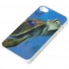 Protective PC Back Case with 3D Graphic for iPhone 4 - Turtle