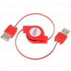 Retractable USB 2.0 Male to Female Extension Cable (75CM-Length)