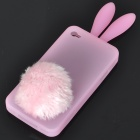 Buy Cute Silicone Rabbit Ear Protective Case Bushy Tail Holder Iphone 4 (Pink)