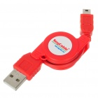 USB retrátil 2,0-5-Pin Mini USB Adapter Cable (75cm de comprimento)