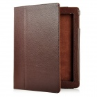 Protective PU Leather Case for Apple iPad 2 - Brown
