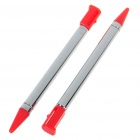 Aluminum Extendable Stylus for Nintendo 3DS - Red (2-Pack)