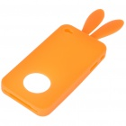 Cute Silicone Rabbit Ear Protective Case for Iphone 4 (Orange)