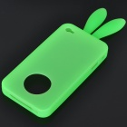 Cute Silicone Rabbit Ear Protective Case for Iphone 4 (Green)