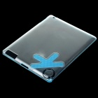 Protective OK Finger Ring Hook Design PC Plastic Case Shell for Ipad 2 - Matte Transparent Blue