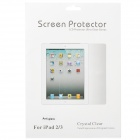Anti-Scratch Screen Protector Guard Film + Cloth for iPad 2 - Transparent