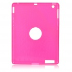 Protective Silicone Back Case for Ipad 2 - Rose Red