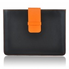 Protective PU Leather Case for Apple iPad 2 - Black + Orange
