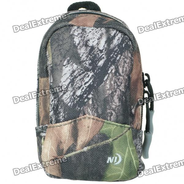 Nite Ize Protective Waterproof Cloth Digital Camera Bag with Belt Clip - Camouflage (Size-S)