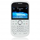 "K66 2.3"" LCD Quad SIM Quad Network Standby Quadband GSM TV Cell Phone w/ WIFI+JAVA - White"