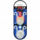 Nite Ize BikeLit Bicycle White LED Front Light + Red LED Tail Light Set (2-Piece Pack)