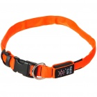 Nite Ize Light Up Red LED Light Dog Collar - Orange (1 x CR2032/Size-L)