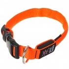 Nite Ize Light Up Red LED Light Dog Collar - Orange (1 x CR2032/Size-M)