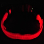 Nite Ize Light Up Red LED Light Dog Collar - Red (1 x CR2032/Size-M)