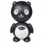 Cute Bear AC/USB Rechargeable 2-Mode 10-LED White Light Energy Saving Desk Lamp - Black (220V)
