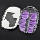 Stylish ABS Salon Artificial Finger Nails Set - Purple