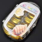 Salon Elegante ABS Fake Nails Finger Set - Golden