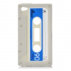Unique Protective Retro Cassette Tape Silicon Case for iPod Touch 4 - Khaki